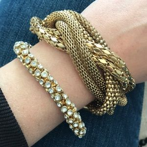 Banana Republic gold and silver bracelet